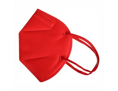 FAMEX Μάσκα Προστασίας Πενταπλής Επίστρωσης, KN95 FFP2 Κόκκινη, 1τμχ