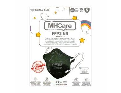MHCare FFP2 KN95 NR Small, Μάσκα Προστασίας για Παιδιά και Μικρό Πρόσωπο 10άδα Μπλε Σκούρο, 10τμχ