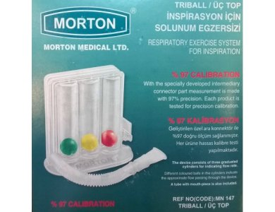 Morton Medical Triball Respiratory Exercise System - Συσκευή Εκγύμνασης Πνευμόνων 1τμχ