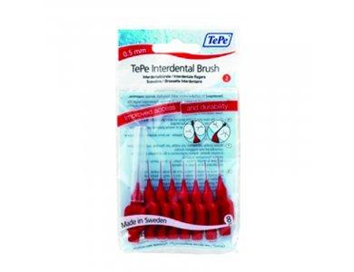 TePe XX-Fine Μεσοδόντια Βουρτσάκια Κόκκινα 0,5mm